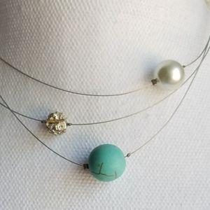 Handmade necklace with Swarovski elements NWOT